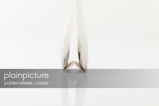 Teebeutel vor weißem Hintergrund - p1276m1200080 von LIQUID