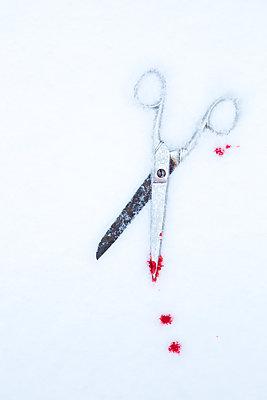 Bloody scissors - p454m2076580 by Lubitz + Dorner