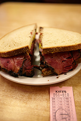 Pastrami Sandwich - p1260m1072221 by Ted Catanzaro
