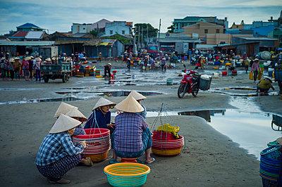 Fishing harbor in Mui Ne, Binh Thuan Province, Vietnam, Southeast Asia - p934m1177096 by Sebastien Loffler