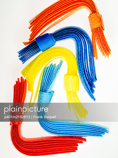Colourful velcro straps - p401m2192513 by Frank Baquet