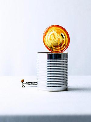 Open tin can - p1053m865439f by Joern Rynio