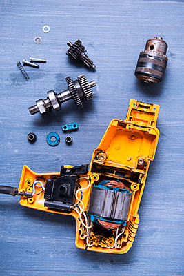Disassembled drilling machine - p1149m2192228 by Yvonne Röder