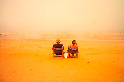 Normandy, Omaha Beach - p1654m2253706 by Alexis Bastin