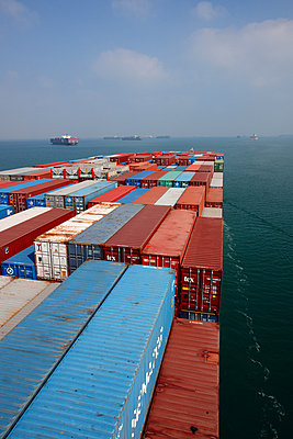 Container ship at the Suez Canal - p1099m882934 by Sabine Vielmo