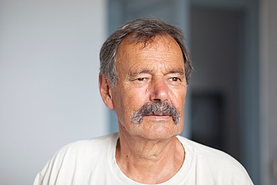 Man with moustache - p505m918723 by Iris Wolf