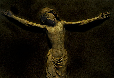 Wooden carving of Jesus - p1072m829352 by Neville Mountford-Hoare