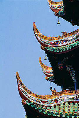 Detail of a pagoda at the Summer Palace in Beijing, China - p4424427f by Design Pics