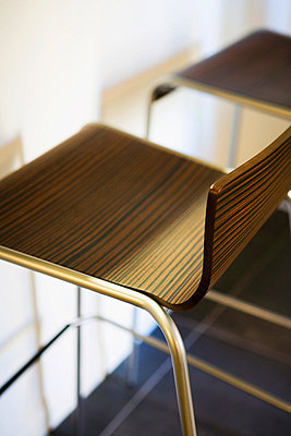 Modern Wood Chairs with Stainless Steel Legs - p5550945f by LOOK Photography