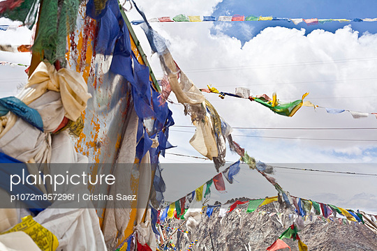 Tibetan prayer flags in the Indian Himalayas