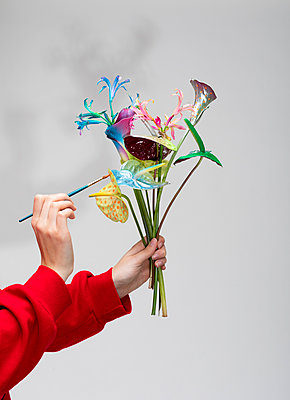 Painting flower bouquet - p801m2258881 by Robert Pola