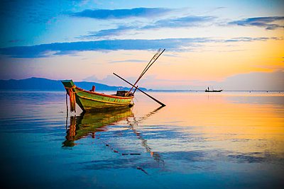 Boat on the sea - p680m1511607 by Stella Mai