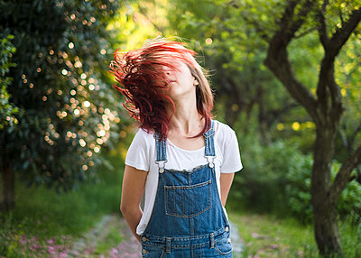 Girl with Red Hair - p1503m2020398 by Deb Schwedhelm