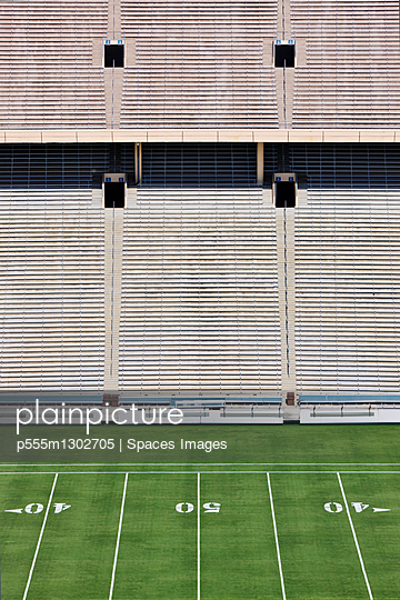50 Yard Line and Seating - p555m1302705 by Spaces Images