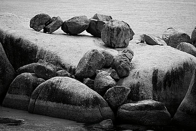 Cluster of Large Boulders on Beach, Cape Town, South Africa - p694m663657 by Maria K