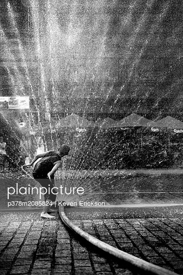 Summer water fun - p378m2085824 by Keven Erickson