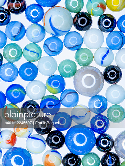 Glass marbles - p401m2245697 by Frank Baquet