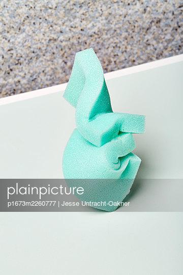 Turquoise solid foam - p1673m2260777 by Jesse Untracht-Oakner