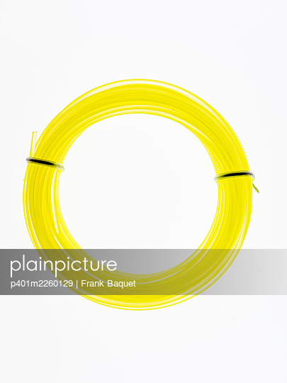 Yellow nylon cord - p401m2260129 by Frank Baquet