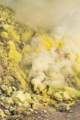 Volcano Kawah Ijen, Java, Indonesia - p1108m1161419 by trubavin