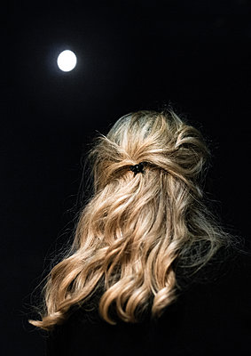 Woman and Moon - p1601m2173208 by Isabelle Scotta