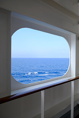 Window on ship - p1105m2125109 by Virginie Plauchut