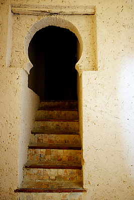 Staircase in Chefchaouen - p1189m1218657 by Adnan Arnaout