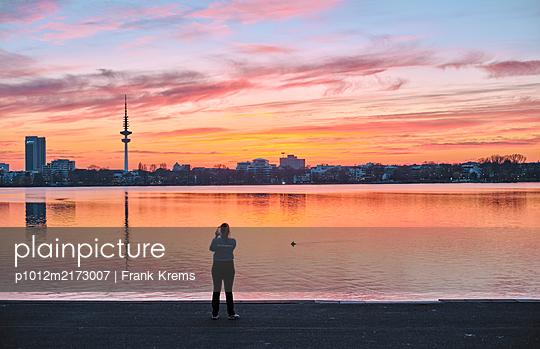 Alleine an der Alster - p1012m2173007 von Frank Krems