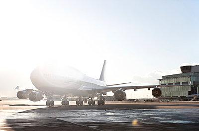 Airplane on the runway - p1250m1050299 by werner bartsch