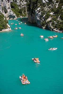 Lake, Provence, France, Europe - p8711443 by Neil Emmerson