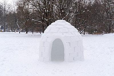 Deutschland, München, Winter, Schnee, Iglu - p300m2250768 von Daniel Ingold