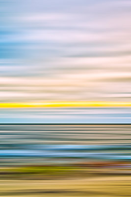 Coastal scenery with motion blur effect - p1436m1584107 by Joseph S. Giacalone