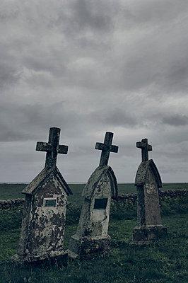 Cemetery on the Isle of Barra, Scotland - p470m2128892 by Ingrid Michel