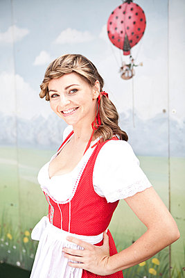Woman in a dirndl - p8140013 by Renate Forster