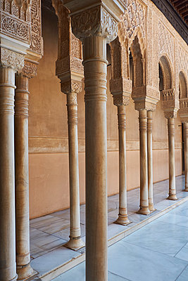 Arcade in the Alhambra - p1146m2150559 by Stephanie Uhlenbrock