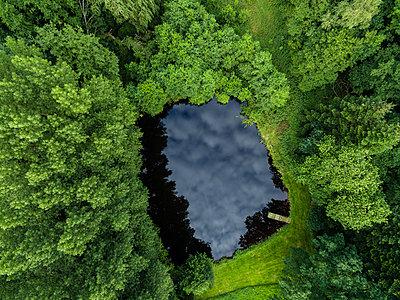 Waldsee Luftaufnahme - p1046m1220969 von Moritz Küstner