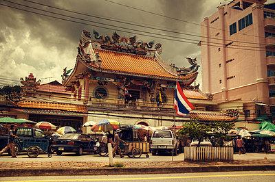 Street in Thailand - p1072m830391 by Joe Eitzen
