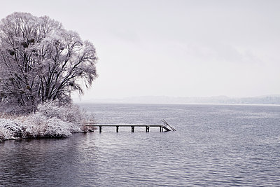 Lake in winter - p1149m1550398 by Yvonne Röder