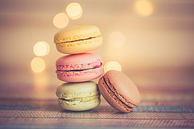 Stack of different macarons - p300m1023369f by Sandra Roesch