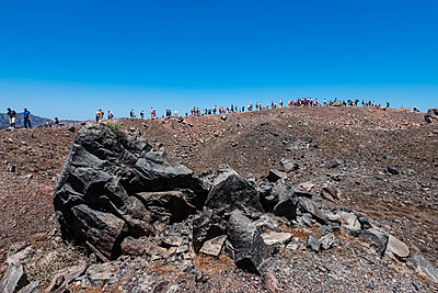 Tourists, Greece, Nea Kameni - p488m1039651 by Bias