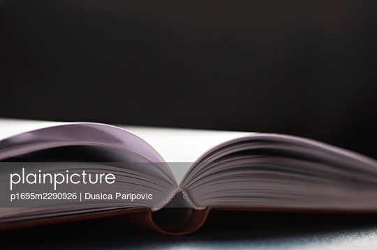 Open book, close-up - p1695m2290926 by Dusica Paripovic