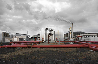 View of geothermal power station - p31224811f by Vince Reichardt
