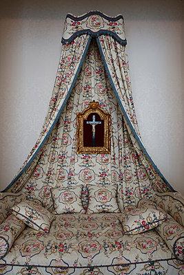 Himmelbett im Schloss Chambord  - p1189m1221930 von Adnan Arnaout