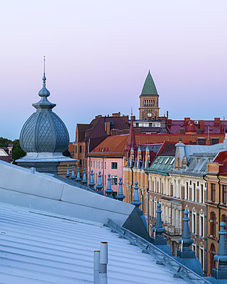 City buildings at dusk - p312m1211093 by Stefan Isaksson