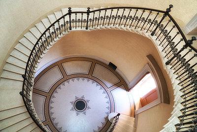 Elegant staircase  - p1154m1193274 by Tom Hogan