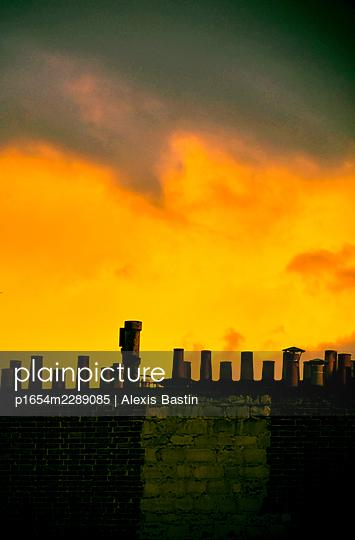 Paris, Sunset - p1654m2289085 by Alexis Bastin