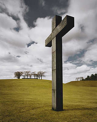 Sculpture of cross - p312m764833 by Bruno Ehrs
