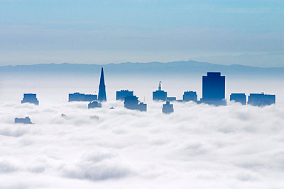 San Francisco in the Clouds - p6940754 by Jack Wolford