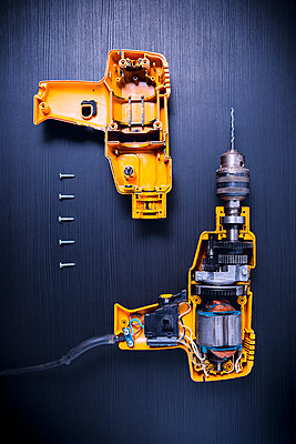 Disassembled drilling machine - p1149m2197046 by Yvonne Röder