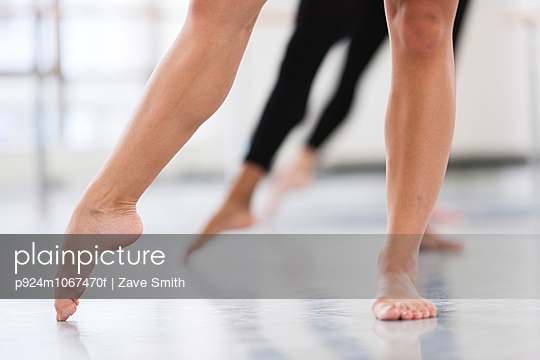 Dancers bare feet en pointe